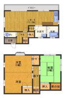淡路市尾崎_テラスからサンセットラインの海が一望できる黄色の中古住宅。海から近いです!