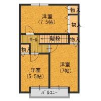 室内2階間取図(間取)