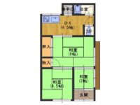 """淡路市志筑_敷金礼金不要!街中にある2SDKの一軒家です。引っ越しまでの""""短期""""も可能。"""
