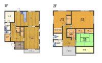 淡路市深草_豪華な輸入住宅の白いお家。オール電化です!隣の庭+道向かいに家庭菜園スペースも!3台以上の駐車スペースあり♬